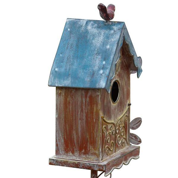 Rustic Freestanding Birdhouses Partial details 2