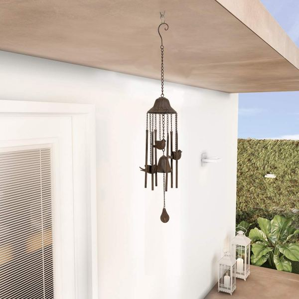 Outdoor Antique Cardinal Wind Chimes Real shot 2