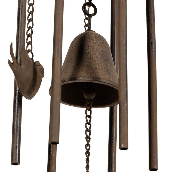 Outdoor Antique Cardinal Wind Chimes Partial details 2