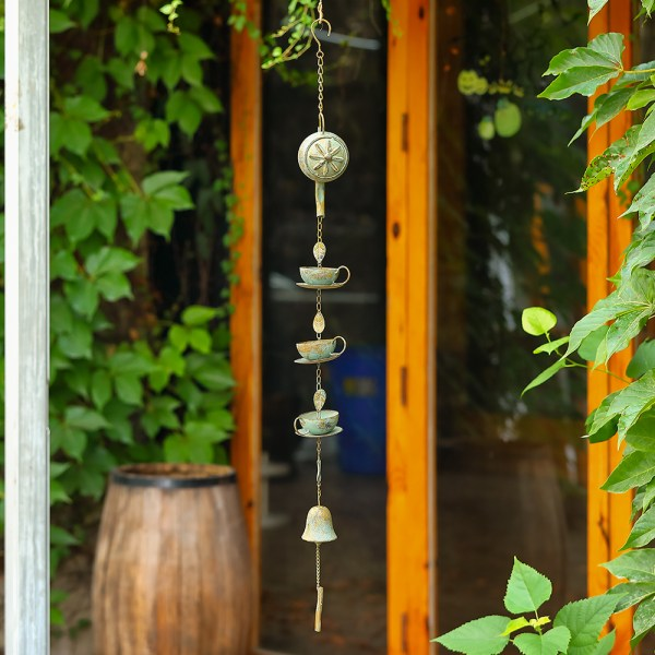 Stainless Steel Rain Chains with a Bell Real shot 1