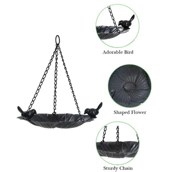 Black hanging tray bird feeders Introduction