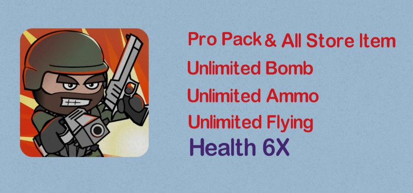 mini militia unlimited ammo nitro bomb mod apk download
