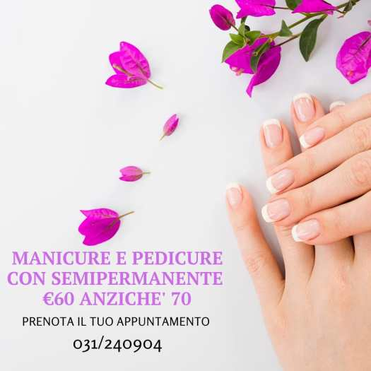 Promozione Manicure e pedicure