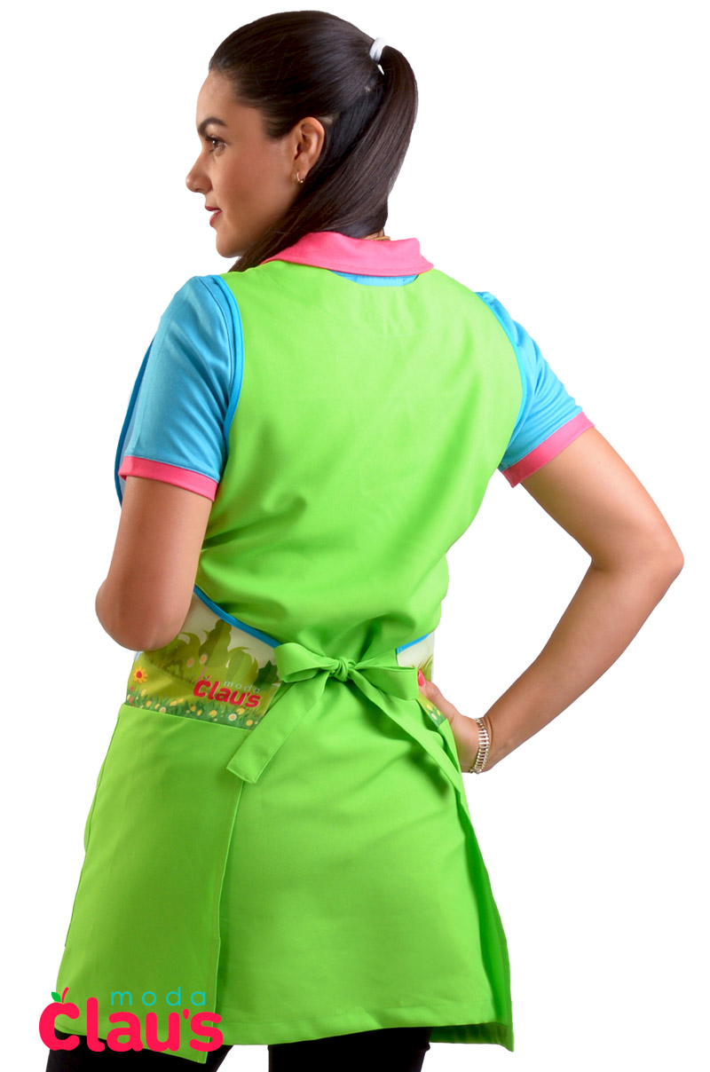 uniformes para maestras de preescolar color verde espalda