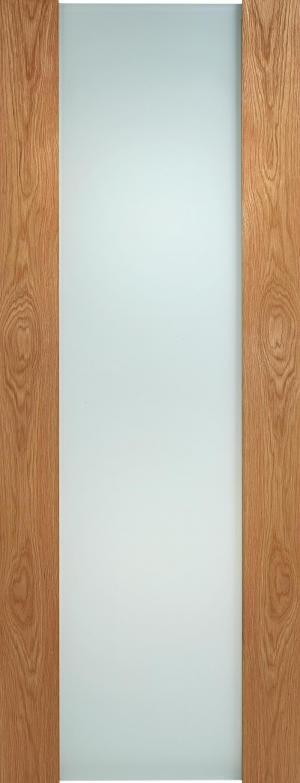LPD Internal Oak Toronto Full Frosted Glass Door
