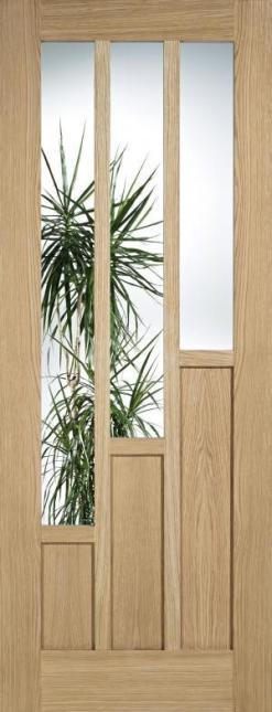 LPD Internal Coventry Oak Glazed Door