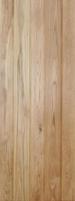 LPD Internal Butt'N'Bead Solid Rustic Oak Framed & Ledged Door