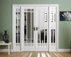 LPD Internal White Manhattan Room Divider Set