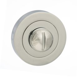 Atlantic Handles Status WC Turn and Release on Round Rose in a Polished Chrome Finish