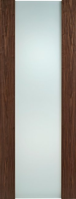 LPD Internal Toronto Full Frosted Glass Walnut Door
