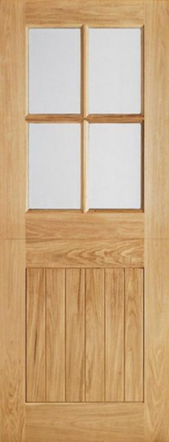 LPD External Oak 4 Light Glazed Stable Cottage Style Door