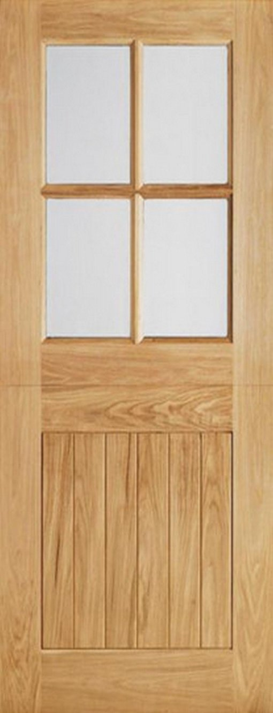 LPD External Oak 4 Light Glazed Stable Cottage Style Door