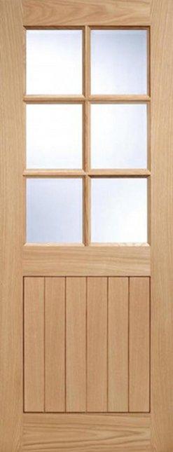 LPD External Oak 6 Light Glazed Cottage Style Door