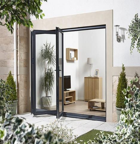 LPD External 2.4m ALUVU (8ft) Aluminium Bi-Fold Door Set in a Grey Finish (Right Hand Opening)