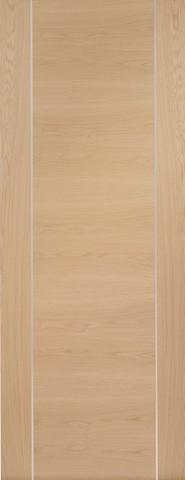 XL Joinery Internal Oak Pre-Finished Forli with Aluminium Inlay Fire Door