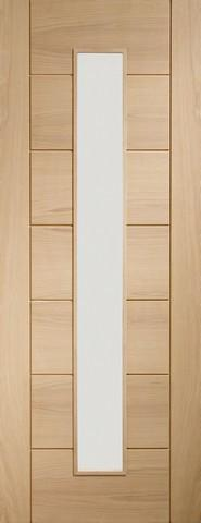 XL Joinery Internal Oak Pre-Finished Palermo 1 Light with Clear Glass Door