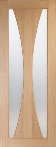 XL Joinery Internal Oak Verona with Obscure Glass Door