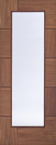 XL Joinery Internal Glazed Walnut Pre-Finished Ravenna Door