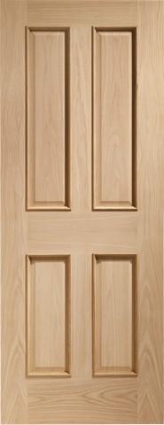 XL Joinery Internal Oak Victorian 4 Panel Fire Door with Raised Mouldings