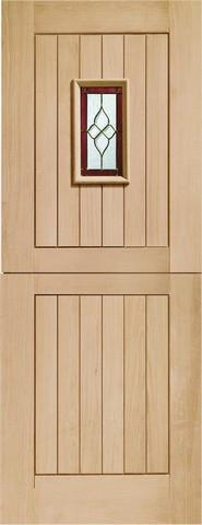 XL Joinery External Oak Mortice & Tenon Triple Glazed Chancery Stable with Brass Caming Door