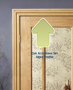 XL Joinery Oak Door Architrave Set in a Classic 'Ogee' profile - Fits both sides of the Door
