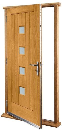 XL Joinery Pre-Finished External Oak Double Obscure Glazed Siena Door Set