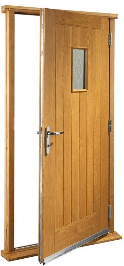XL Joinery Pre-Finished External Oak Double Glazed Chancery Door Set