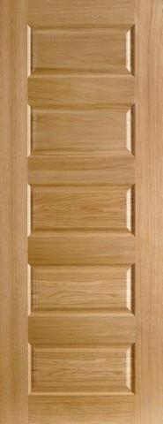 LPD Internal Oak Contemporary 5 Panel Pre-Finished Door