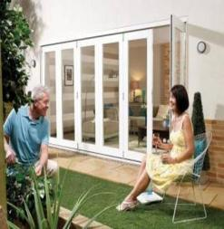 LPD External 2.4m NUVU (8ft) White Pre-Finished Bi-Fold Doors with a 3+0 Configuration