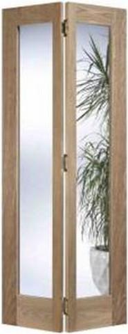 LPD Internal Oak Contemporary Pattern 10 Glazed Bi-Fold Door