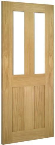 Deanta Doors Internal Eton Oak Glazed Un-Finished Door