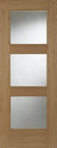 Mendes Internal Pre-Finished Oak Madrid 3 Light Fire Door