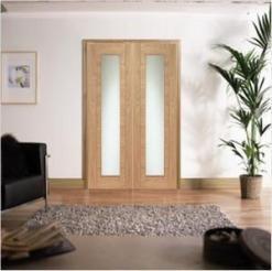XL Joinery Internal Oak Palermo Clear Glass Door Pair
