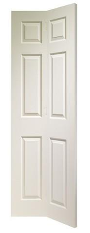 XL Joinery Internal White Moulded Colonist 6 Panel Bi-Fold Door