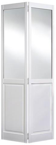 LPD Internal Bi-Fold Mirror & Panel White Pine Door