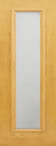 LPD External GRP Oak Frosted Sidelight