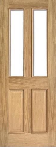 LPD Internal Oak Richmond Raised Mouldings with Clear Bevelled Glass Door