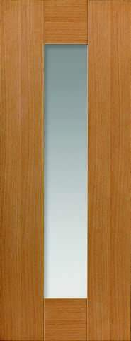 JB Kind Internal Oak Axis Pre-Finished Glazed Door
