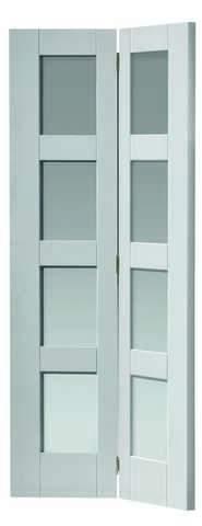 JB Kind Internal White Cayman Glazed Bi-Fold Door