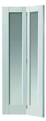 JB Kind Internal White Tobago Glazed Bi-Fold Door