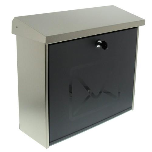 Burg-Wachter Lucca 3713 Ni Post Box in Stainless Steel