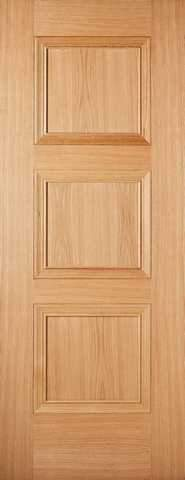 LPD Internal Prefinished Oak Amsterdam 3 Panel Fire Door