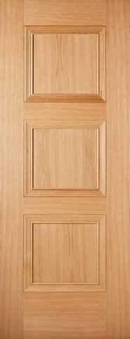LPD Internal Prefinished Oak Amsterdam 3 Panel Fire Door