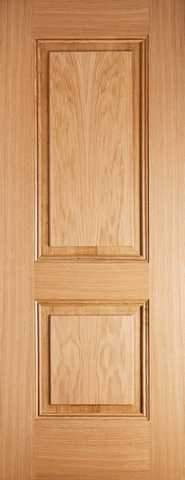 LPD Internal Prefinished Oak Arnhem 2 Panel Fire Door