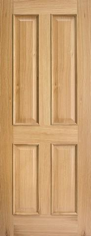 LPD Internal Oak Regency 4 Panel Raised Mouldings Fire Door