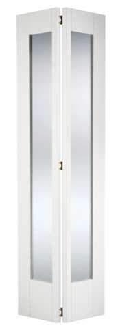 LPD Internal Bifold White Primed Shaker Glazed Door