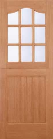 LPD External M&T Hardwood Stable 9 Light Clear Glazed Door