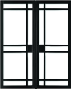 Weekamp Doors Internal Industrial 8 Panel Glazed Black Door with 80mm Stiles