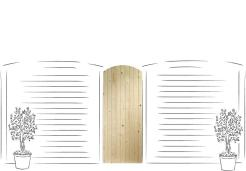 XL Joinery Arched Top Pine Gate
