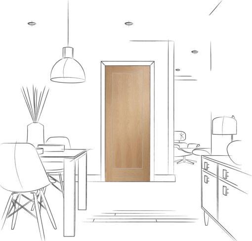 XL Joinery Internal Pre-Finished Oak Varese Door